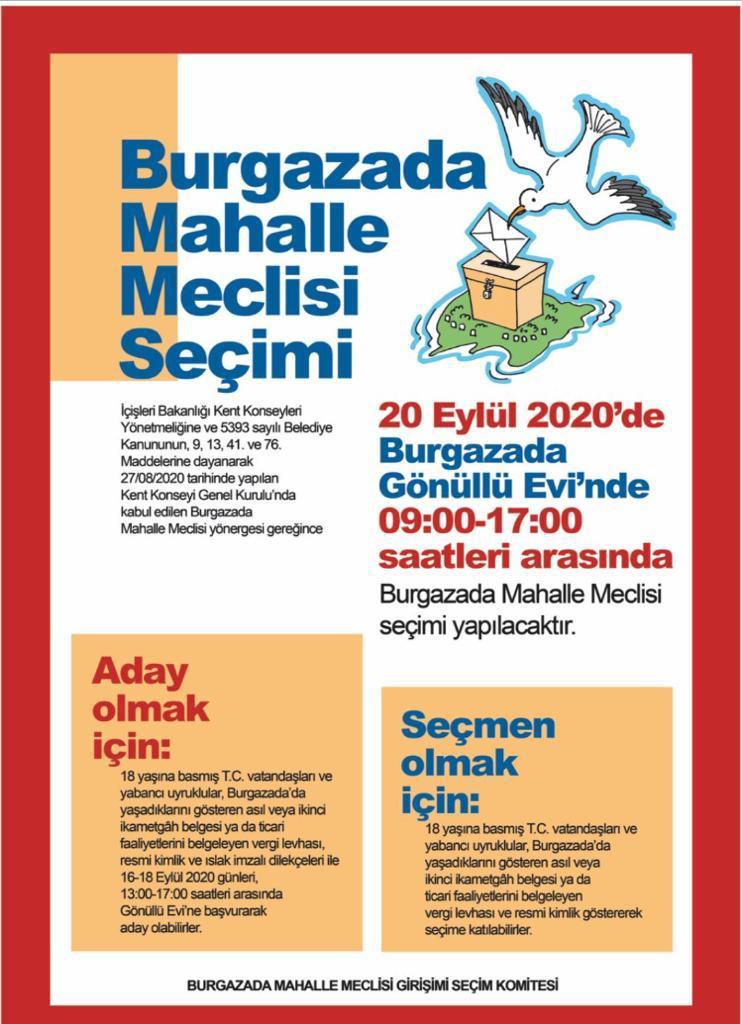 Burgazada Mahalle Meclisi Seçimi Yapılıyor